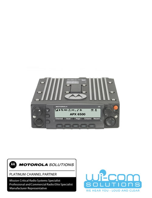 APX™ 6500 Single-Band P25 Mobile Radio – Wi-Com Solutions Inc